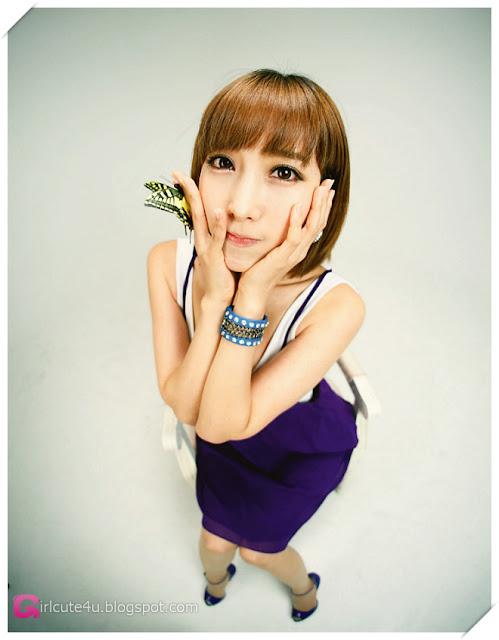 5 Im Min Young - White and Purple-Very cute asian girl - girlcute4u.blogspot.com