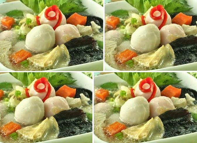 resep sup bakso ikan lebih sehat dengan aneka sayur   area