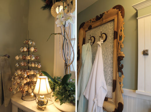 from Christmas garland Hammers and High Heels  Bachman s 2011 Holiday Idea  House  The. Christmas Bathroom Decorations   Home Interior Design