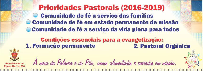 Prioridades pastorais 2016-2019