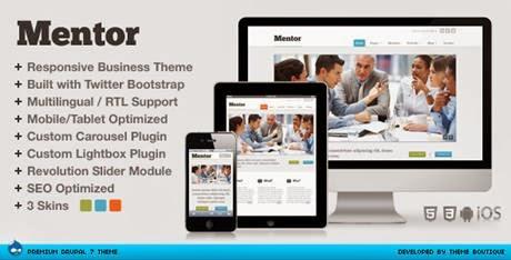 Mentor Themeforest Responsive Drupal Theme