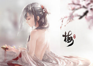 Beautiful Girl Sad Face Cherry Blossom Anime HD Wallpaper Desktop PC Background 1853