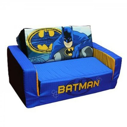 Batman Flip/Fold Out Marshmallow Sofa For Toddlers And Kids