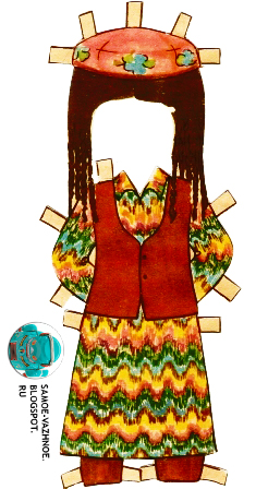 Бумажная кукла Таня СССР костюмы народов СССР