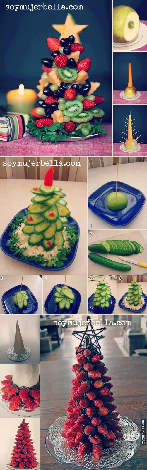 las mejores decoraciones navideñas con comida - dulce