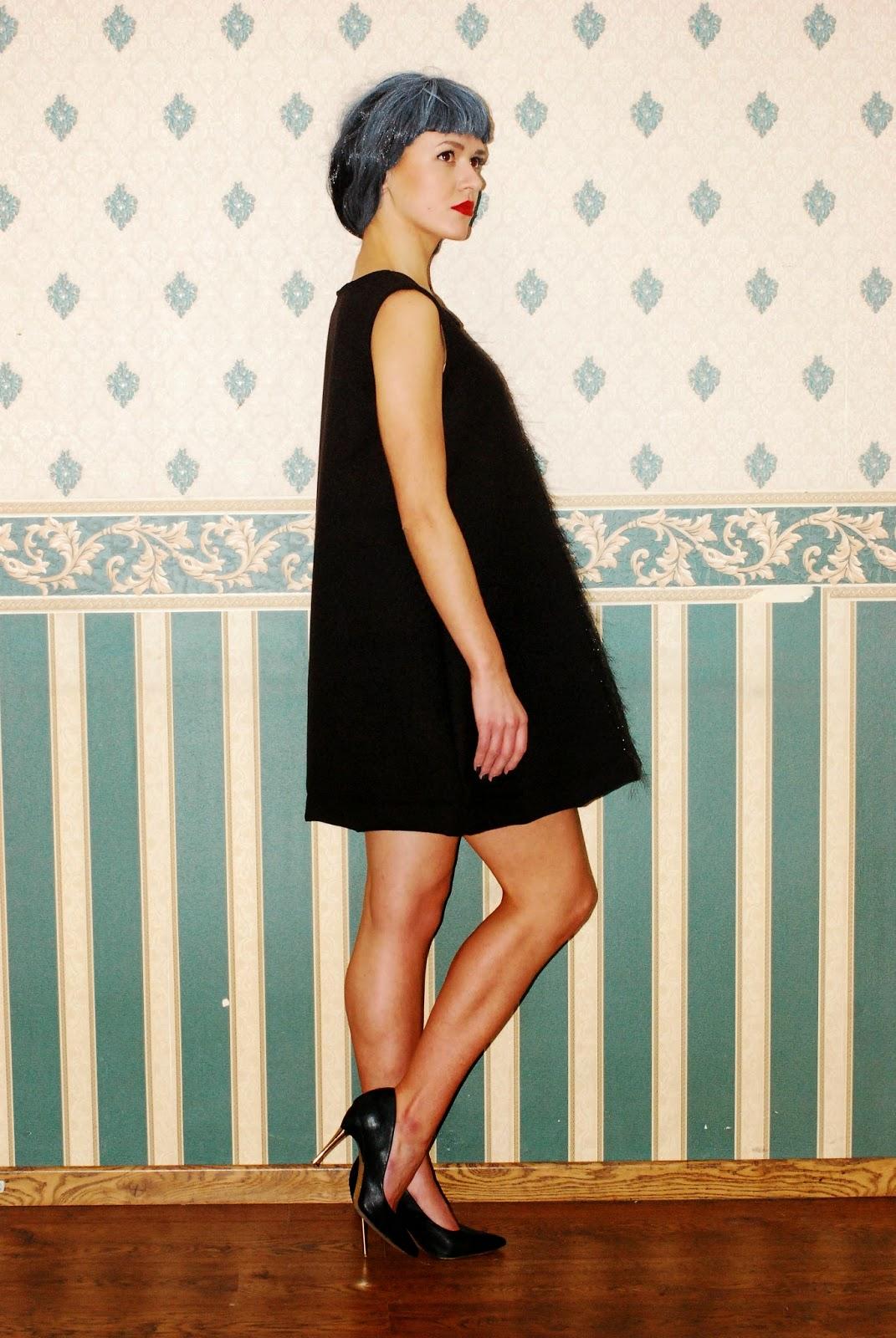 Sukienka trapez MARACHIC, Mieniący się komplet, Sukienka z flauszu, Cekinowa sukienka MARACHIC, cekinowe spodnie, spodnie w cekiny, sukienka na sylwestera, karnawała, karnawałowe kreacje 2015