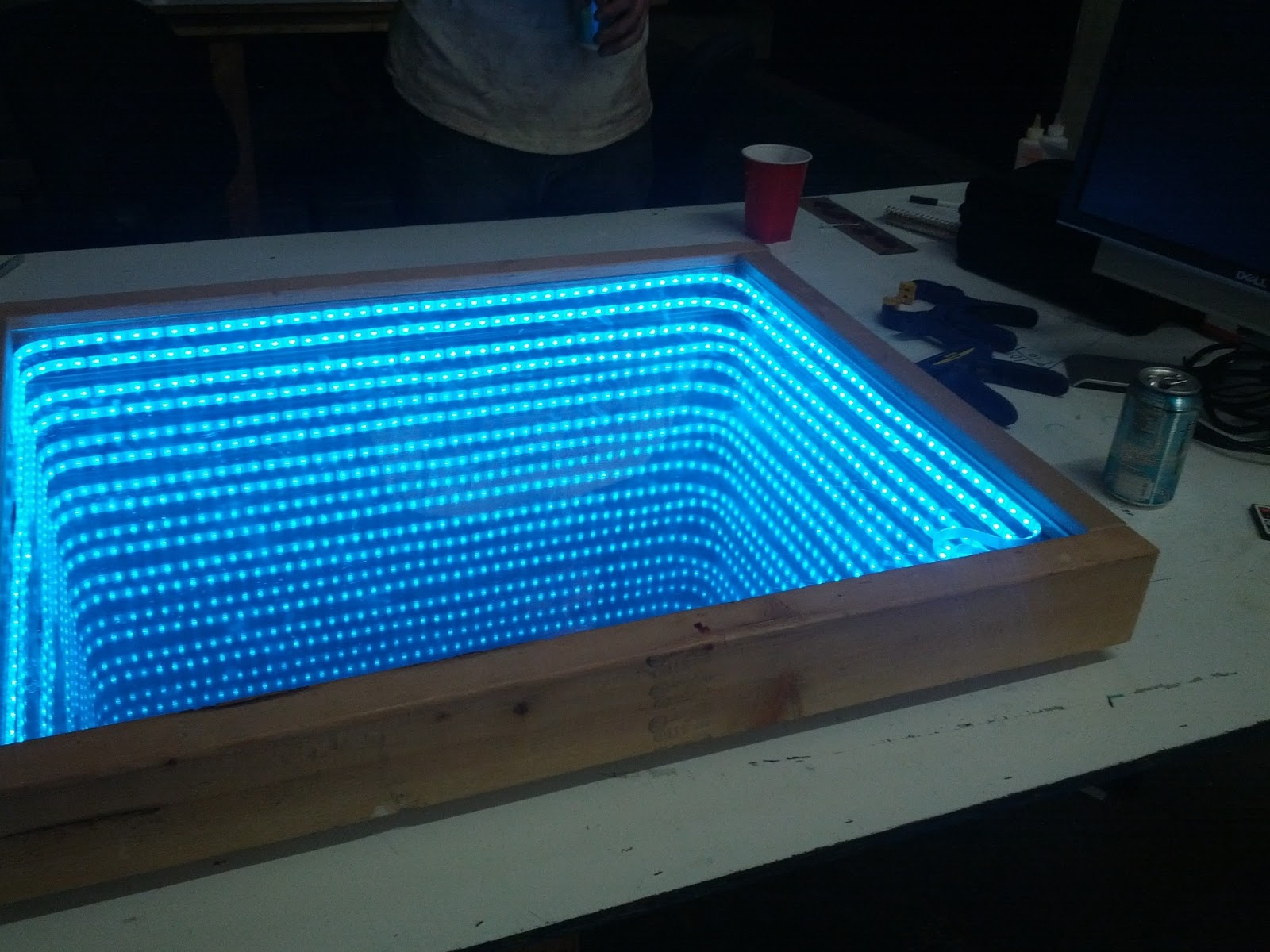 Freeside Atlanta: Infinity Mirror Prototype build