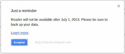 Nota del cierre de Google Reader