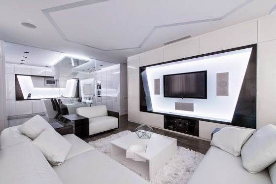 Design of futuristic Apartment