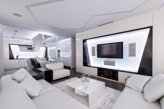 Design of futuristic Apartment