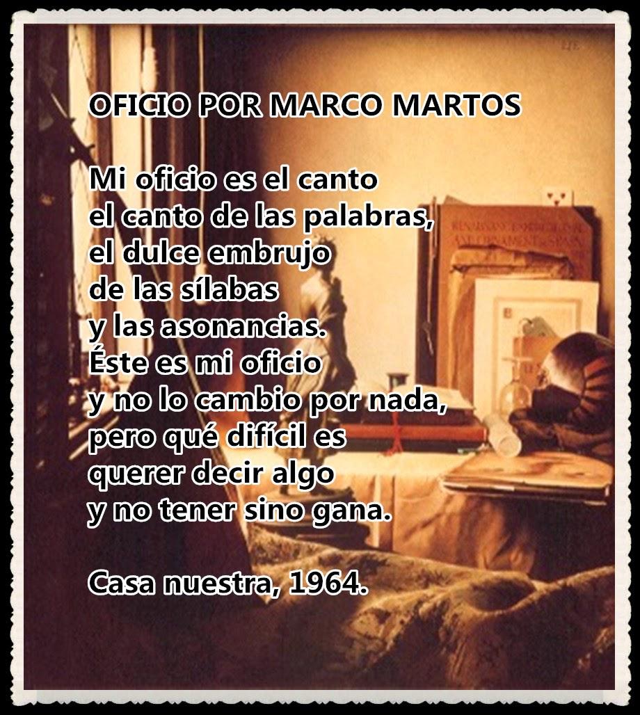 FLOR DE CANELA POR FANNY JEM WONG M: OFICIO POR MARCO MARTOS