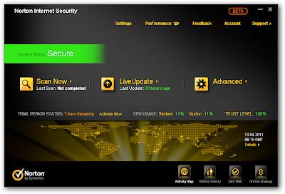 Norton Internet Security 2012 beta
