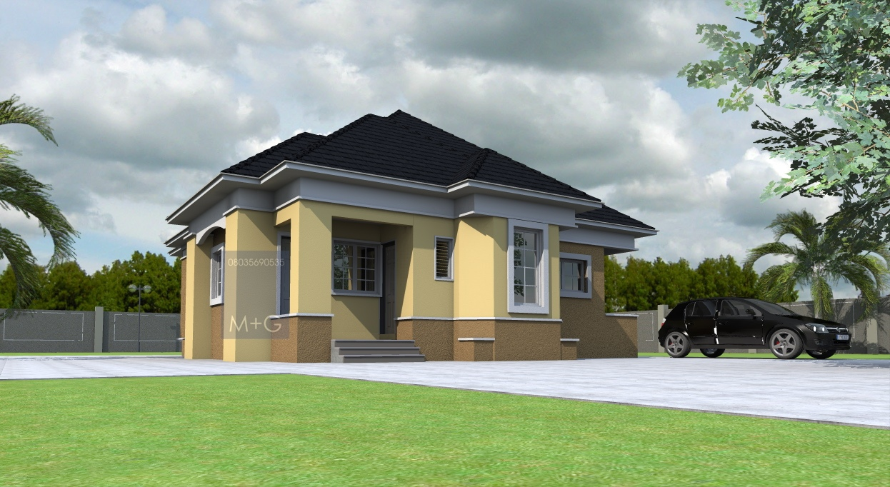 3 bedroom bungalow plan in nigeria joy studio design for Nigerian home designs photos