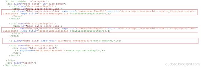 Toàn bộ code older và newer post