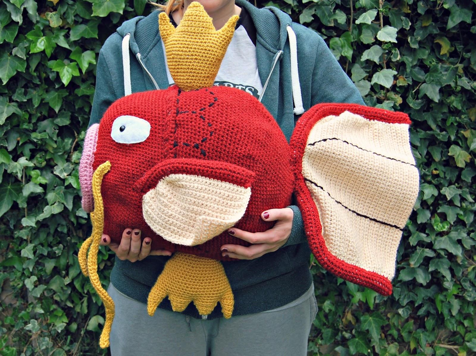 the geeky knitter: fo: giant crochet magikarp