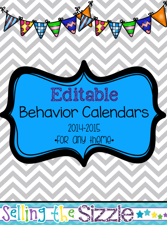 http://www.teacherspayteachers.com/Product/Editable-Behavior-Calendars-for-any-theme-803114
