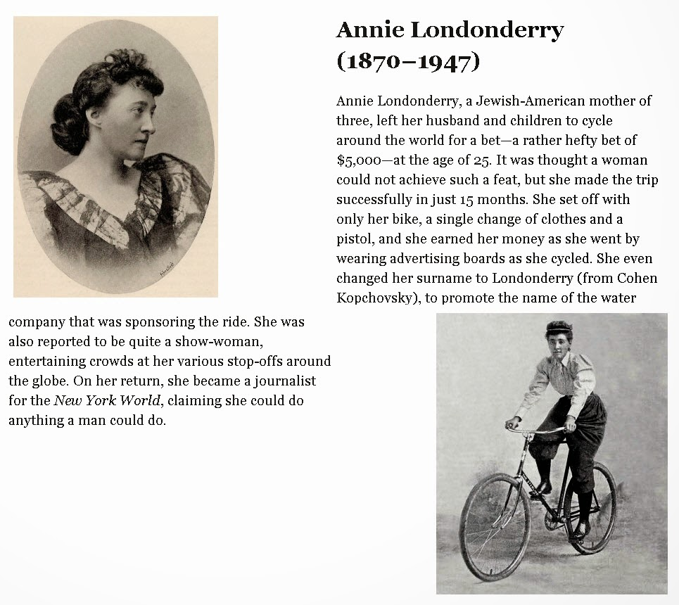 Women on Bicycles Annie Londonderry