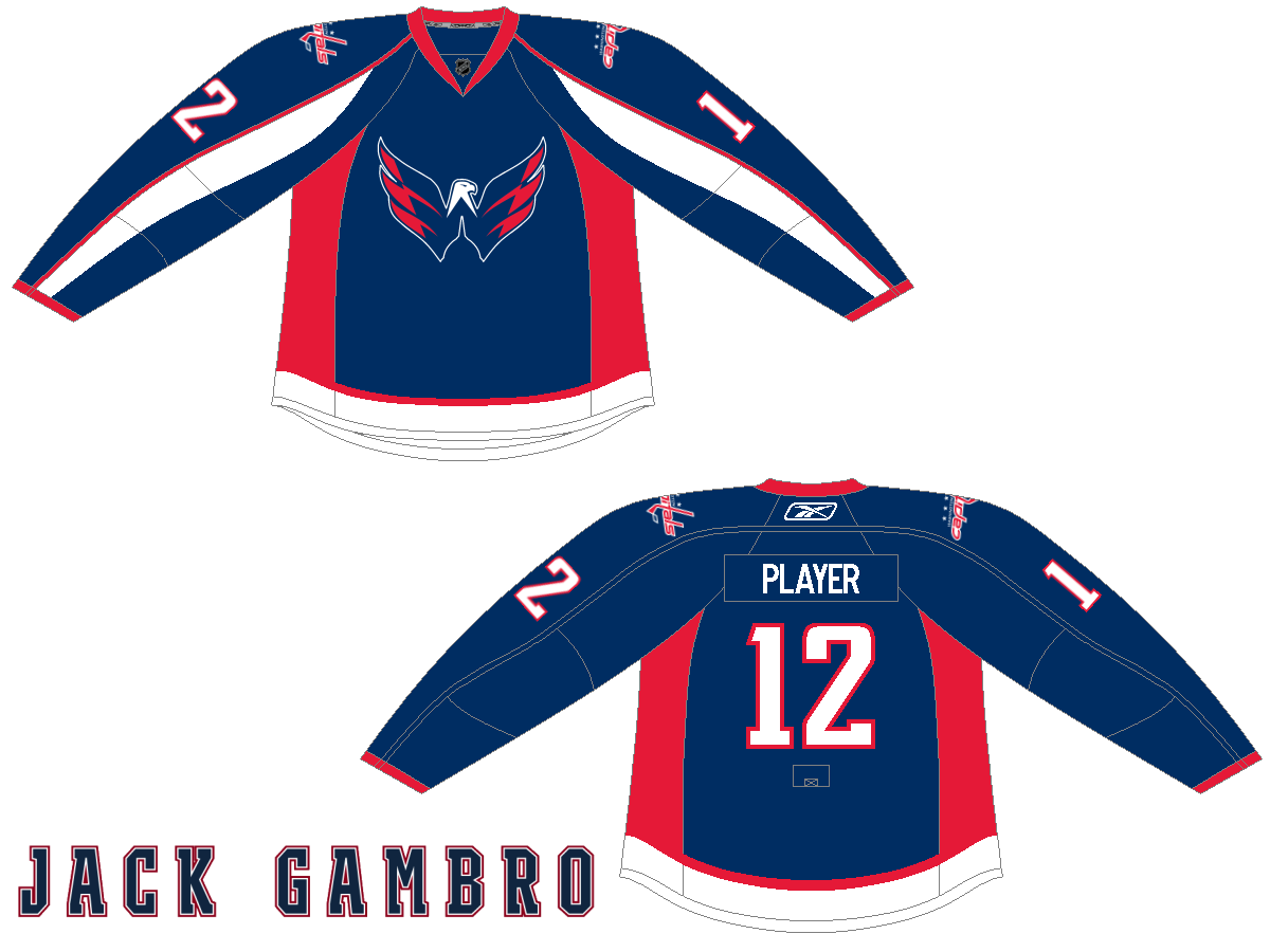 Image result for capitals blue alternate jersey