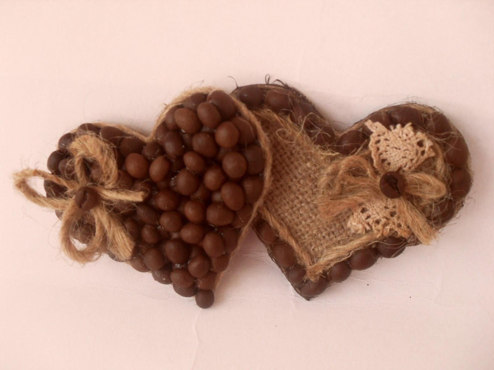 Кофейное сердце своим руками