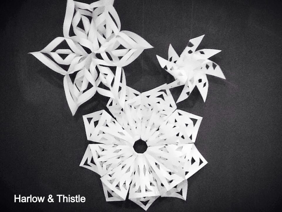 Diy 3d snowflakes harlow thistle home design for Diy paper snowflakes 3d
