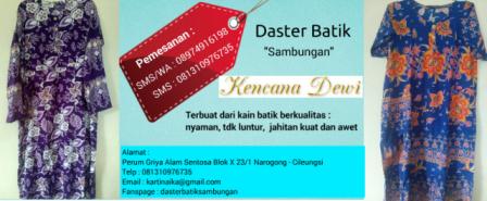 Jual Daster Batik
