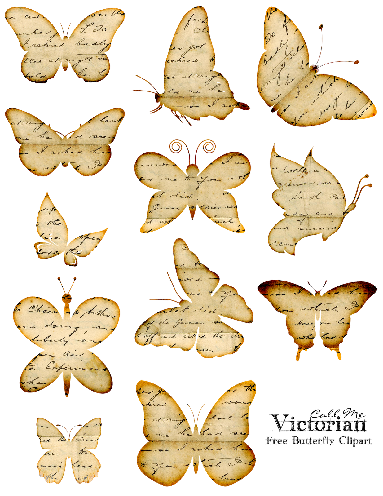 free vintage butterfly clipart - photo #3