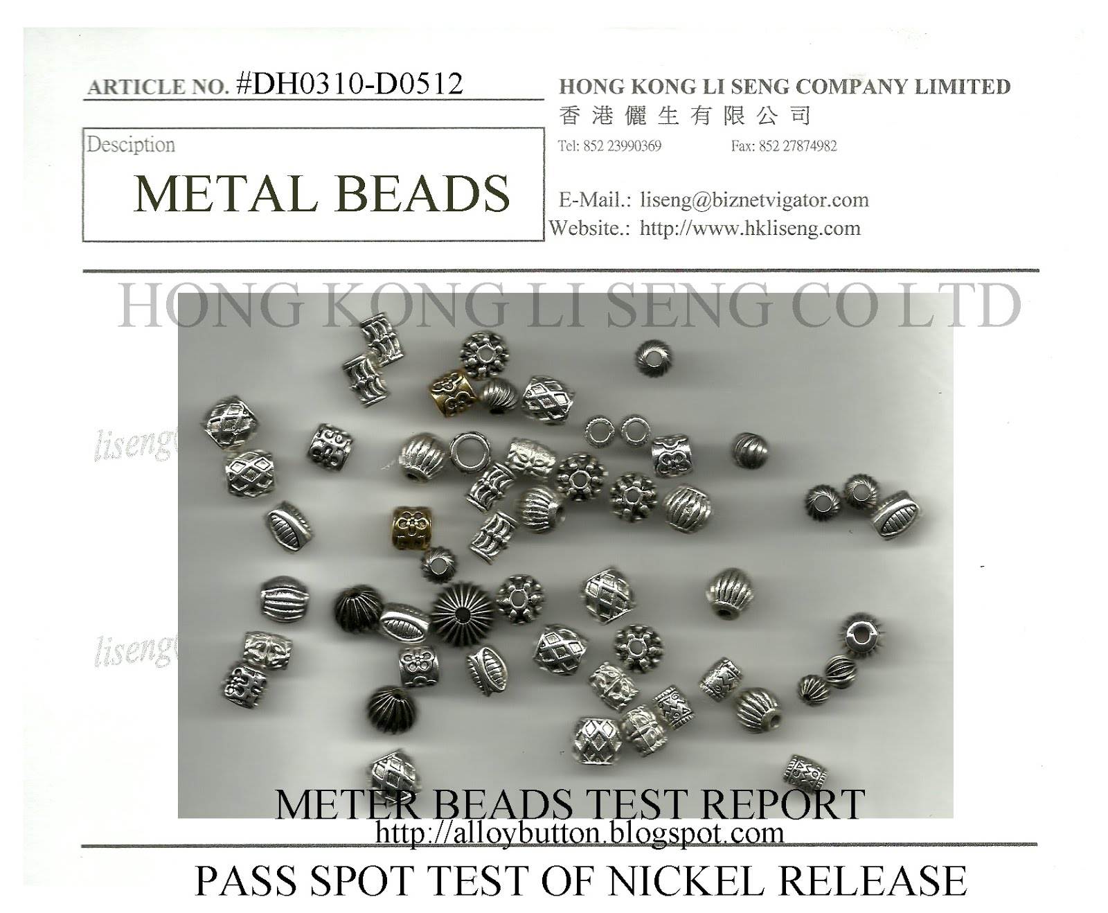Silvery Metal Beads