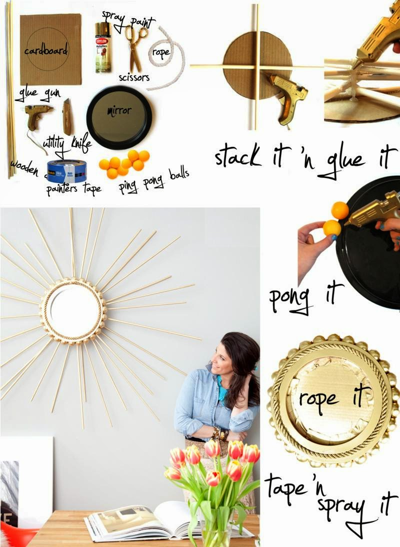 Doityourself: DIY : Make a Beautiful Sunburst Mirror
