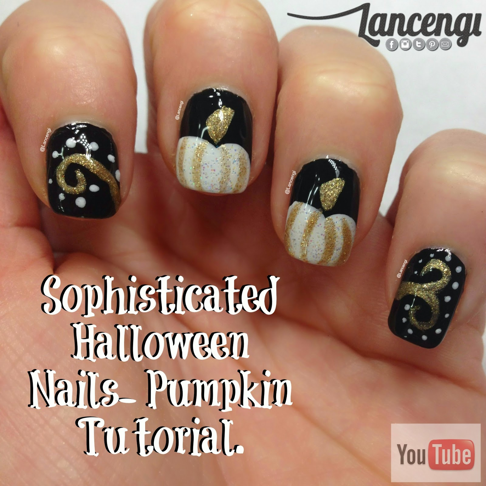 Top 3 pumpkin nails for fall lancengi manicure 2 sophisticated pumpkin manicure 300 prinsesfo Image collections