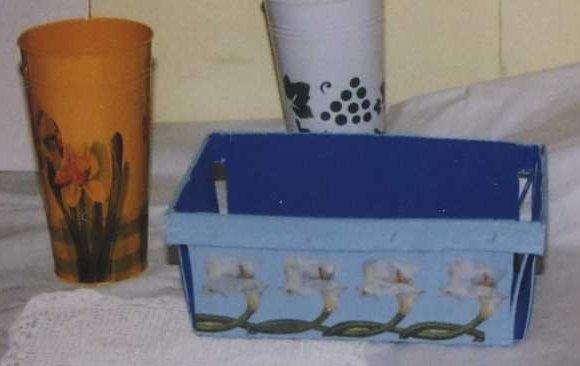 longchamp bricole serviettes sur pot zinc. Black Bedroom Furniture Sets. Home Design Ideas