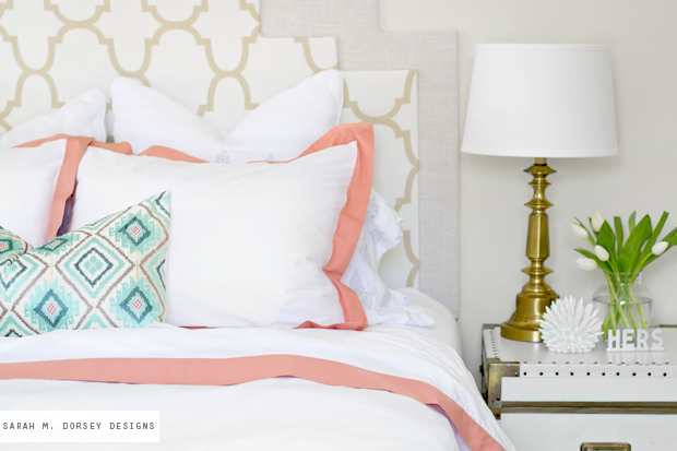 sarah m. dorsey designs: Master Bedroom Refresh with Crane ...