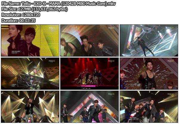 [Perf] EXO K   MAMA @ MBC Music Core 120428