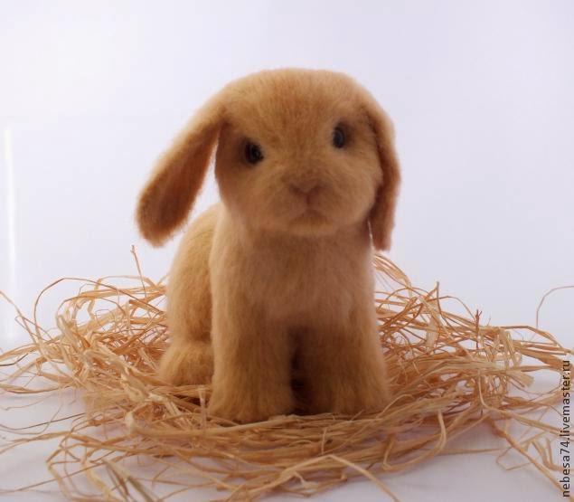 Подробный фото мастер-класс по валянию крольчонка