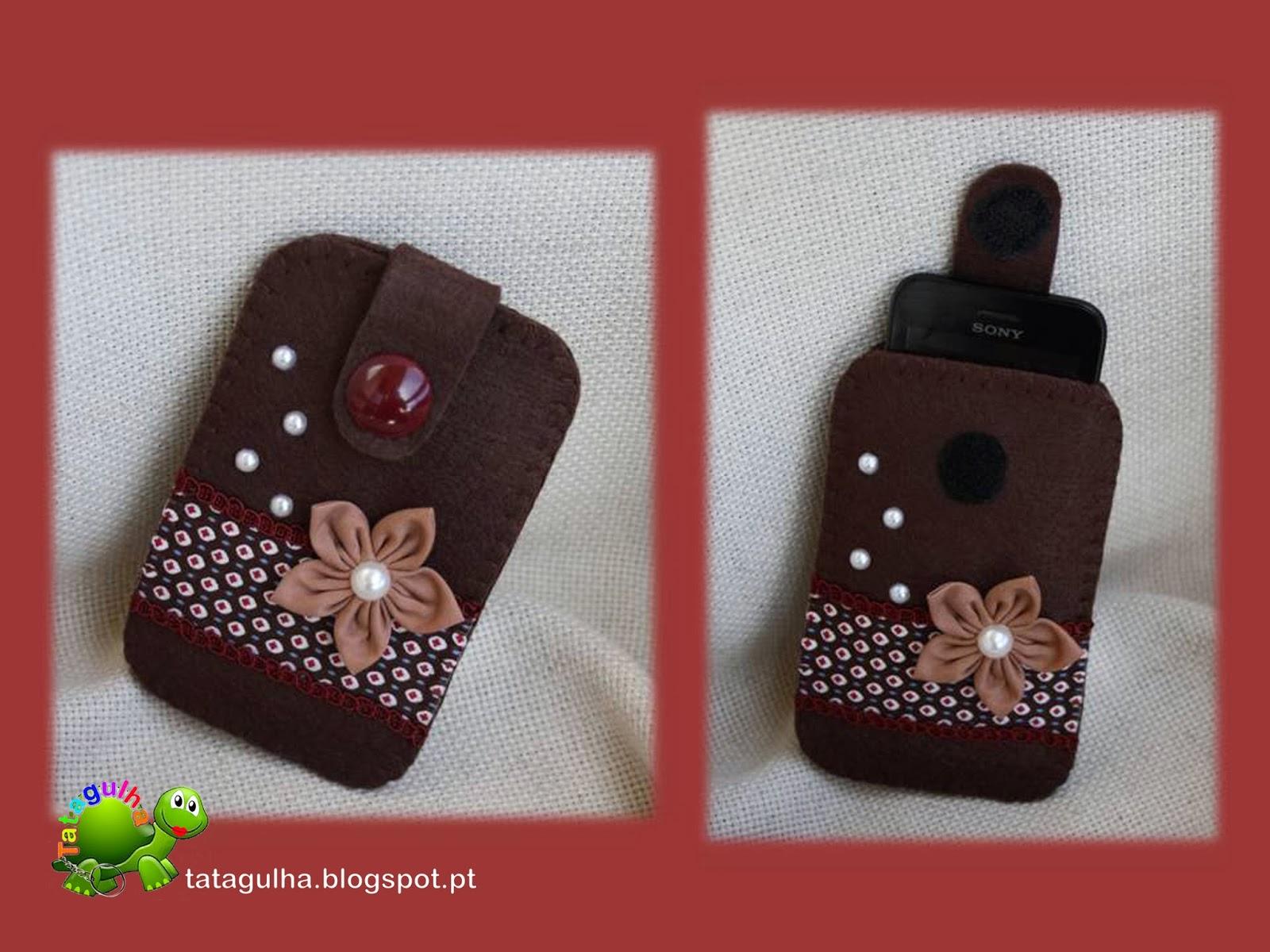 Bolsa Em Tecido Para Telemovel : Tatagulha bolsas para telem?vel em feltro e tecido