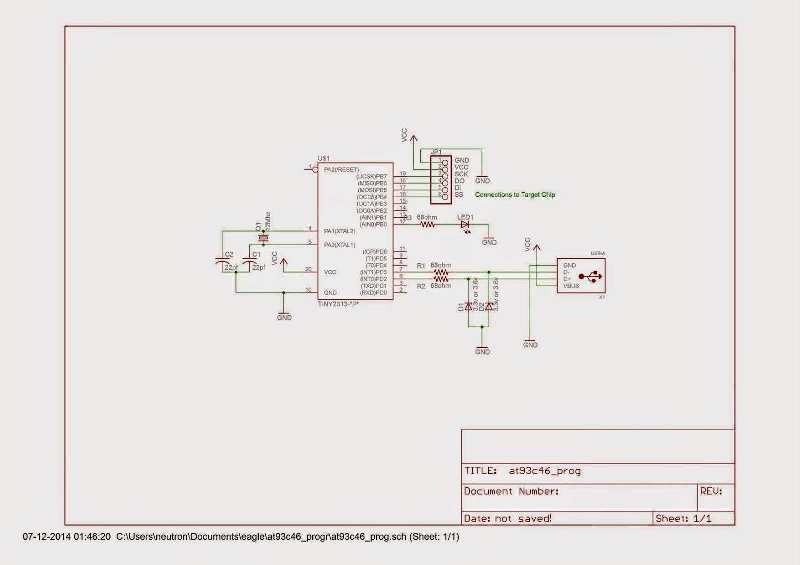Usb Programmer For 93c46 Family Eeproms Xmechatronics Exploring Pic Circuit If