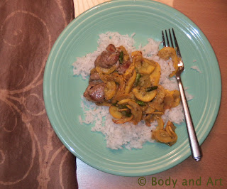ROBBY ROBINSON'S DIET - HEALTHY MEALS CHICKEN BREAST AND DARK LEG MEAT WITH SAUTEED VEGETABLES ▶ www.robbyrobinson.net             .