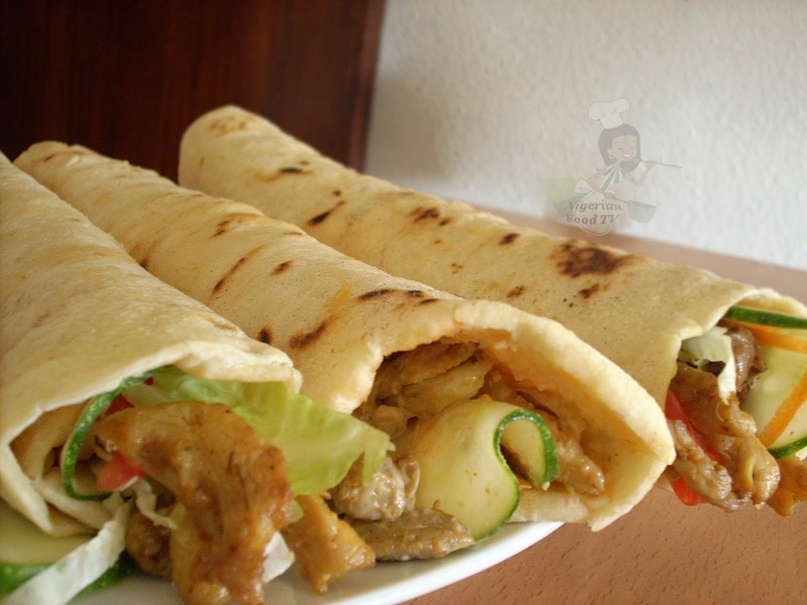 And your Homemade Nigerian Chicken Shawarma is ready... Enjoy!
