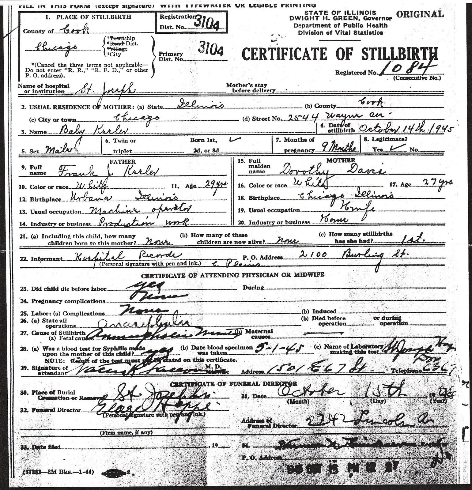 Your cousin caron january 2016 mother dorothy davis 27 years old born in chicago illinois housewife marriage certificates aiddatafo Choice Image