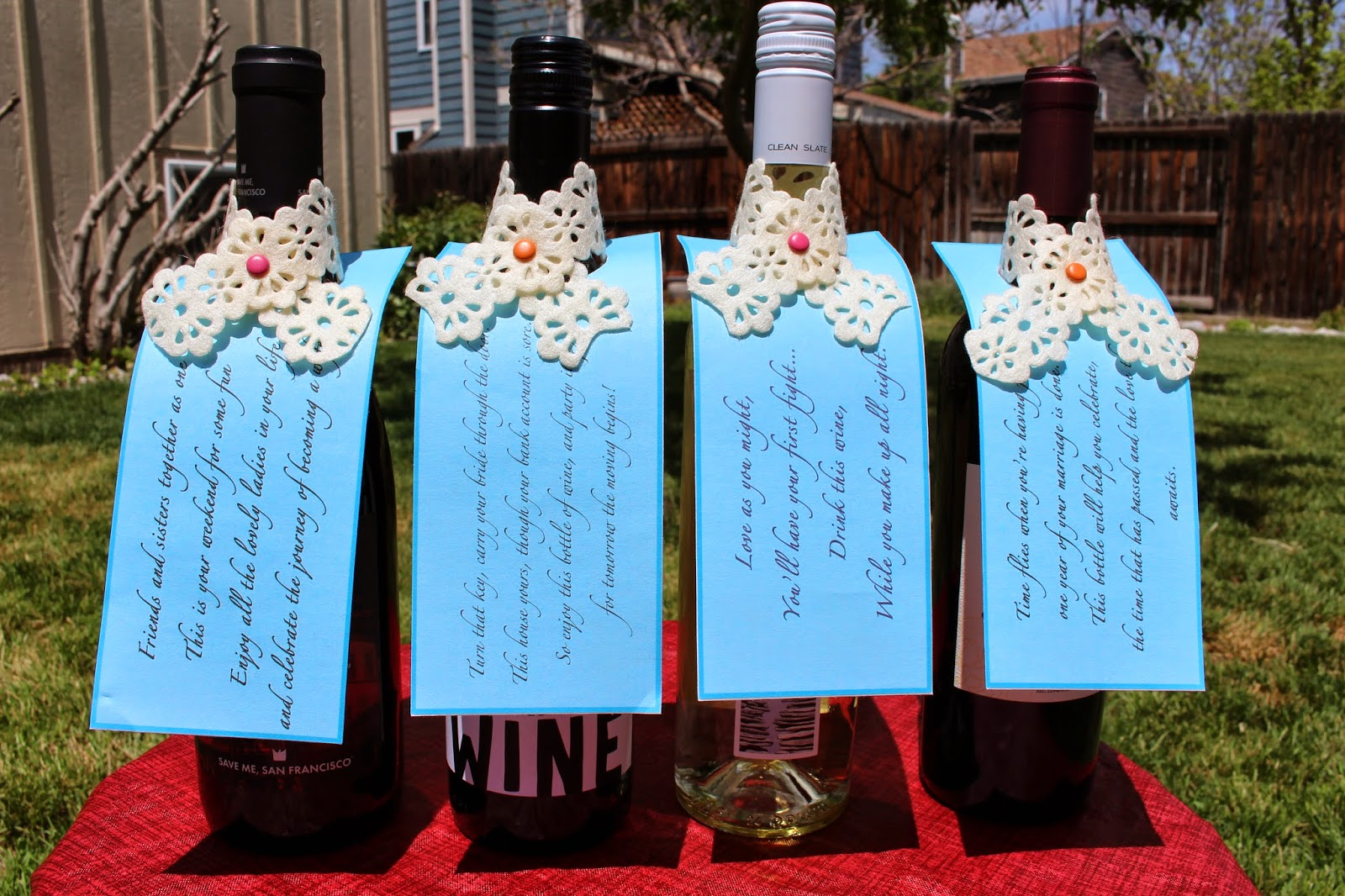 Left to right: Soul Sister wine for the Bachelorette Party, House Wine ...