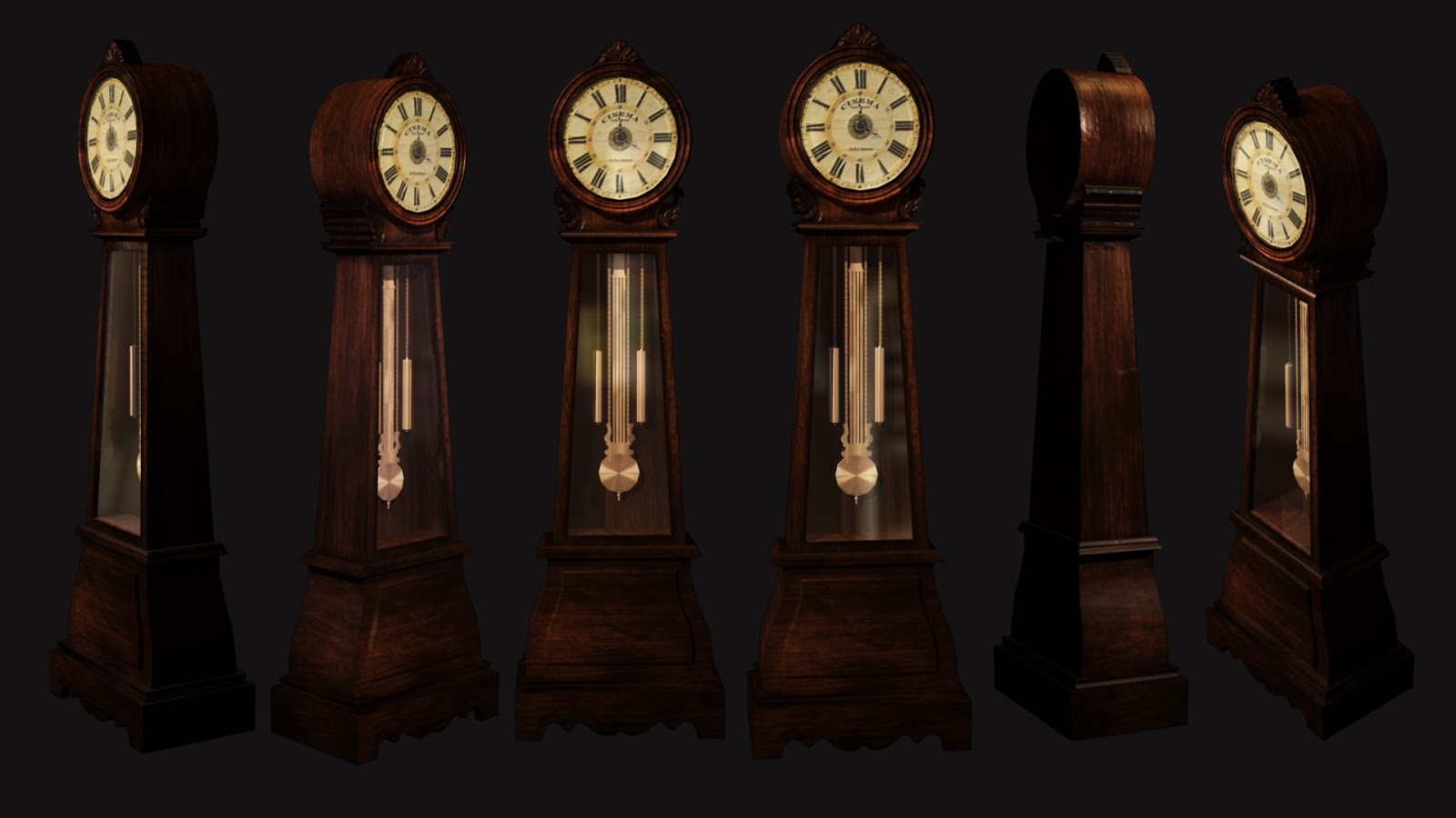 ... props, might use them in a scene soon. but here is a grandfather clock