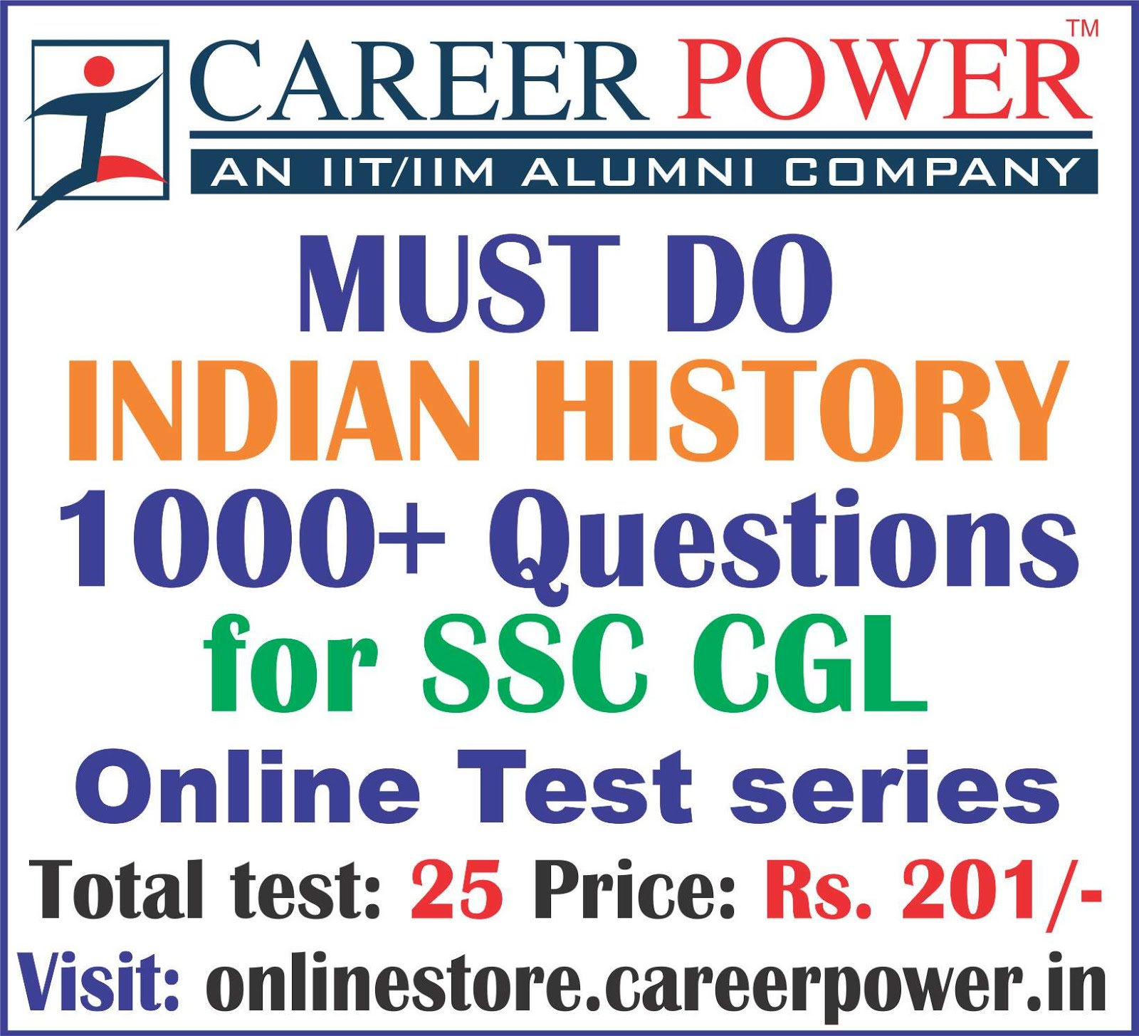 Must Do Indian History Questions for SSC CGL