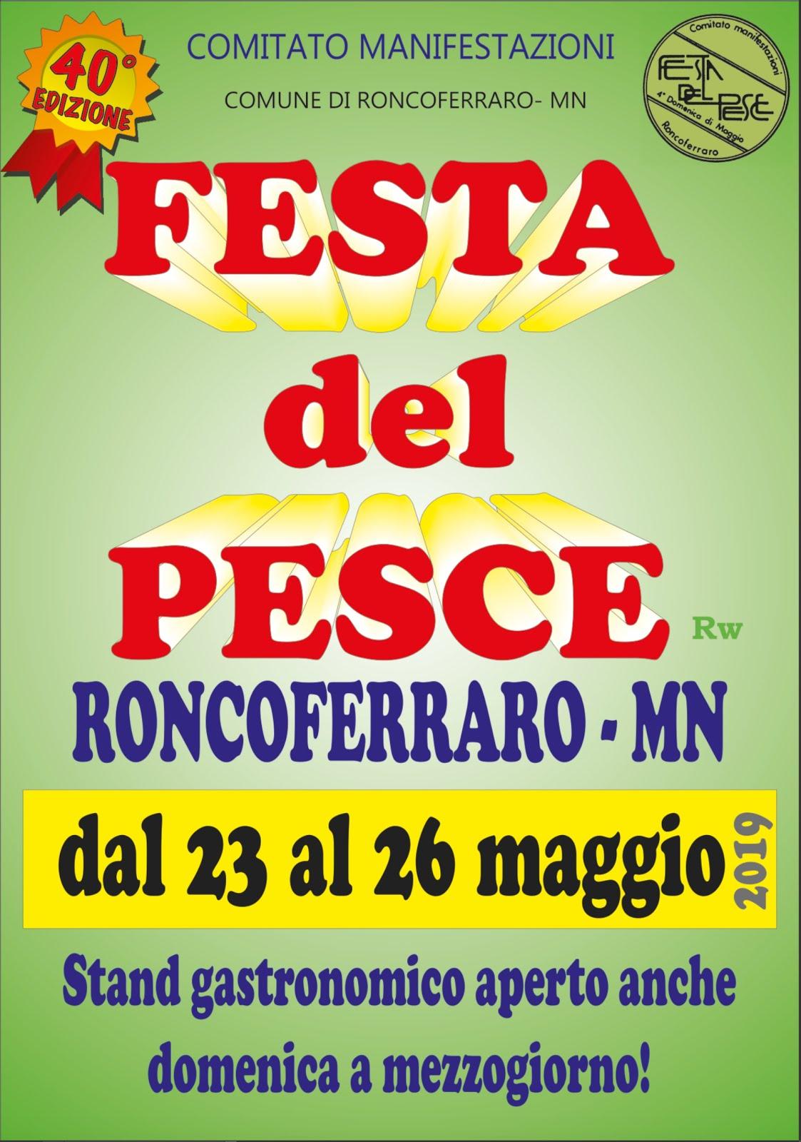 """Manifesto del 40° anniversario della """"Festa del Pesce"""""""