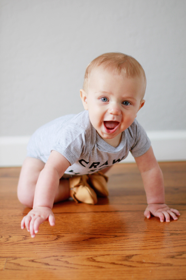 7-month-old baby crawling