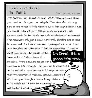 Comic from The Oatmeal showing a very long email