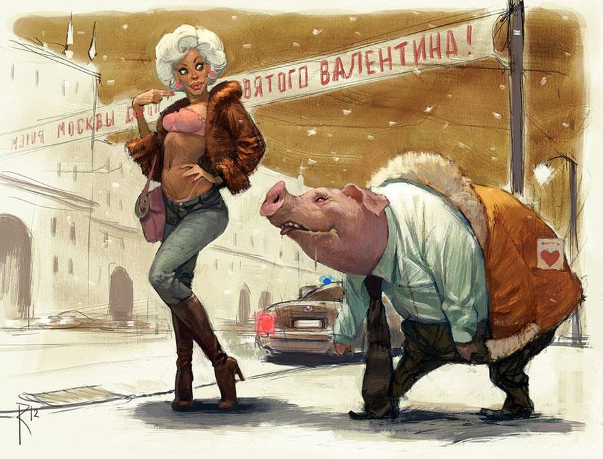 Ilustrações incríveis e controversas de Waldemar von Kazak