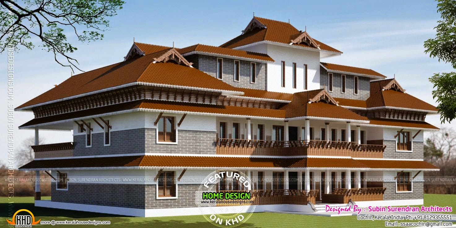 Super luxury house plan for super rich kerala home for Rich house plans