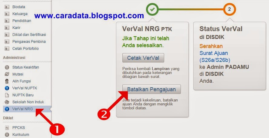 Batlakan Pengajuan Verval NRG