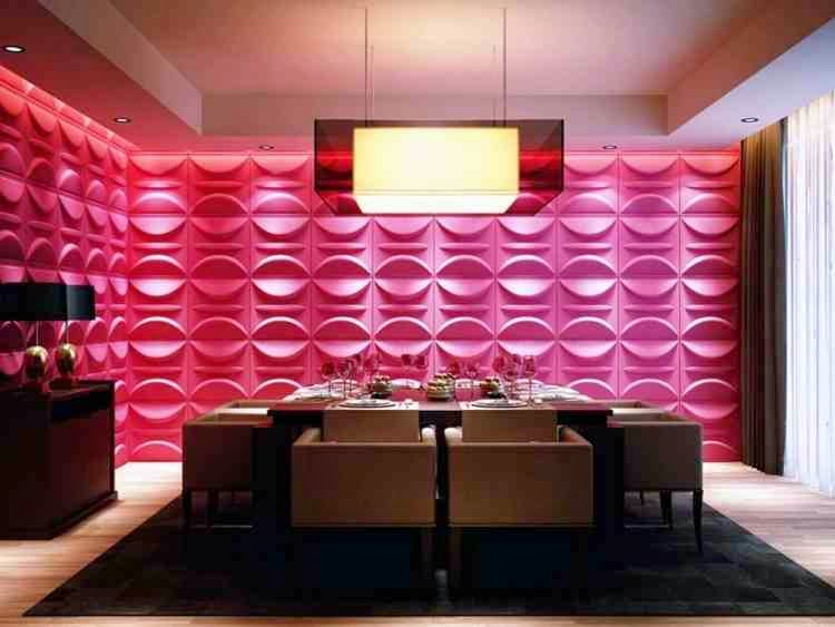 Original Dining Room Wall Decor In Luxury Interior Style