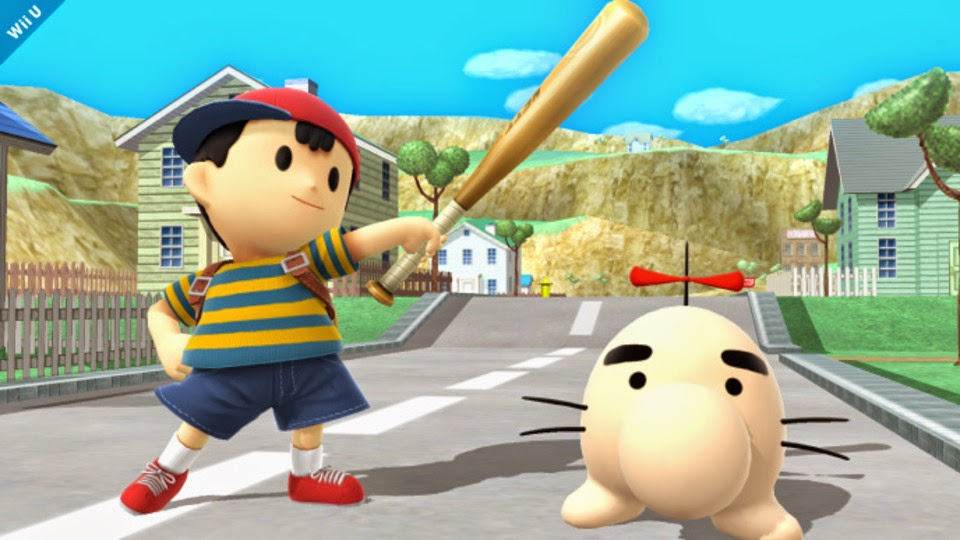 super smash bros 3ds ness character earthbound wii u