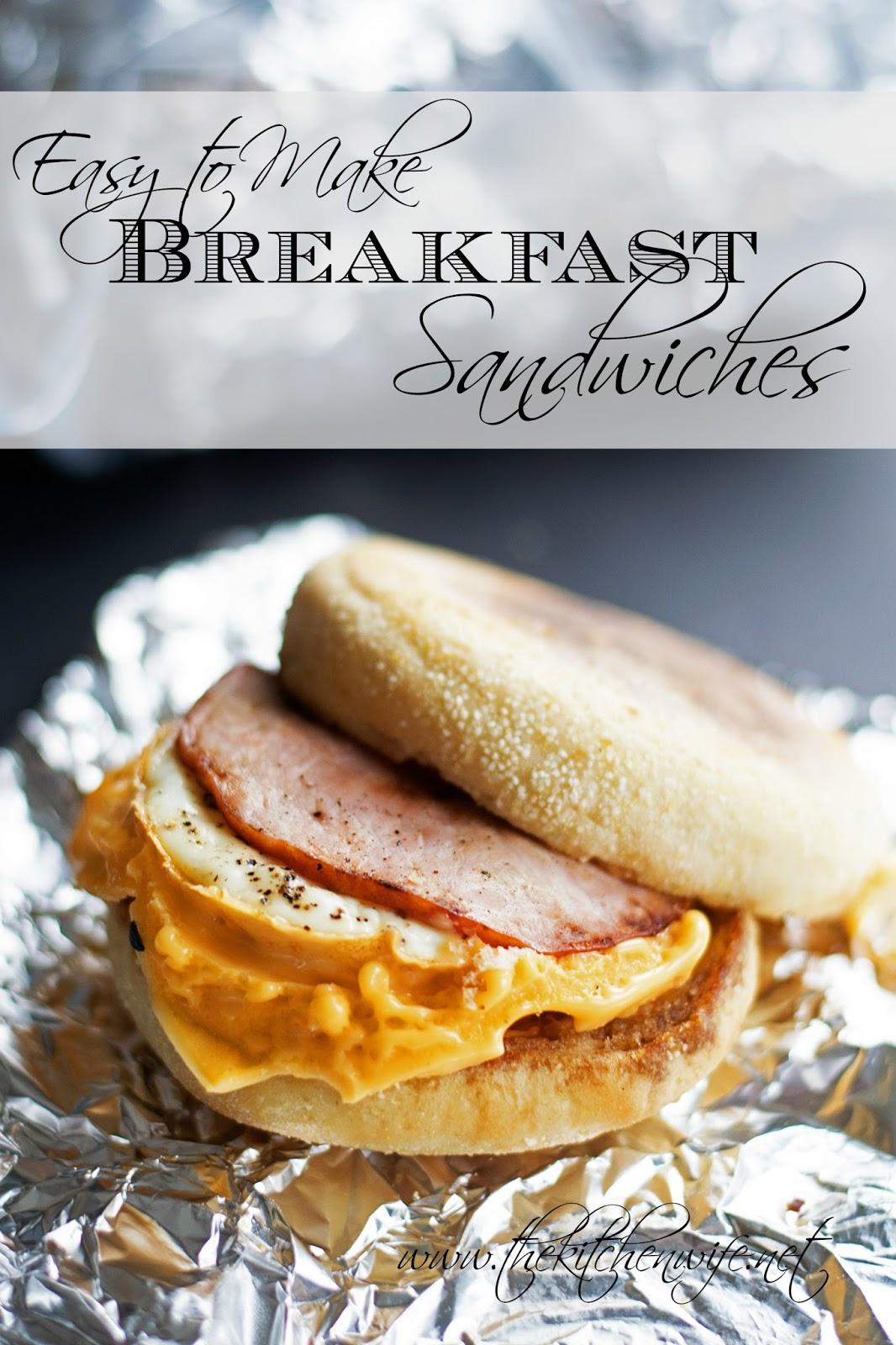 Easy To Make Breakfast Sandwiches